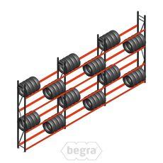 Angebot Reihe Weitspann Reifenregal  AR 3000x6240x400 mm (hxbxd) 3 Abschnitte 4 Ebenen Anthrazit