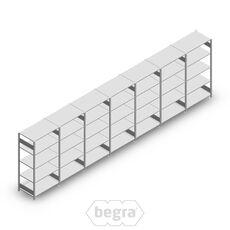 Angebot Reihe Fachbodenregal, Steckregal Metall Heavy Duty 2000x7000x800, 5 Ebenen Verzinkt 250 kg