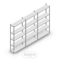 Angebot Reihe Fachbodenregal, Steckregal Metall Light Duty  2000x3000x300, 5 Ebenen Verzinkt 40 kg