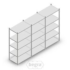 Angebot Reihe Fachbodenregal, Steckregal Metall Light Duty  2000x3000x600, 5 Ebenen Verzinkt 80 kg