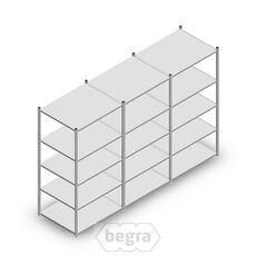 Angebot Reihe Fachbodenregal, Steckregal Metall Light Duty  2000x3000x800, 5 Ebenen Verzinkt 140 kg
