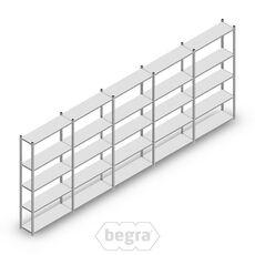 Angebot Reihe Fachbodenregal, Steckregal Metall Light Duty  2000x5000x300, 5 Ebenen Verzinkt 40 kg