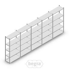 Angebot Reihe Fachbodenregal, Steckregal Metall Light Duty  2000x5000x400, 5 Ebenen Verzinkt 120 kg