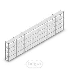 Angebot Reihe Fachbodenregal, Steckregal Metall Light Duty  2000x7000x400, 5 Ebenen Verzinkt 120 kg