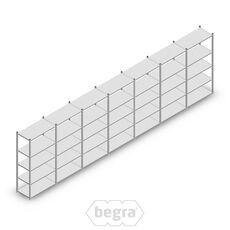 Angebot Reihe Fachbodenregal, Steckregal Metall Light Duty  2000x7000x500, 5 Ebenen Verzinkt 100 kg