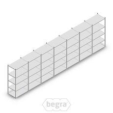 Angebot Reihe Fachbodenregal, Steckregal Metall Light Duty  2000x7000x600, 5 Ebenen Verzinkt 80 kg