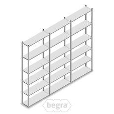 Angebot Reihe Fachbodenregal, Steckregal Metall Light Duty  2500x3000x300, 6 Ebenen Verzinkt 40 kg