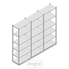 Angebot Reihe Fachbodenregal, Steckregal Metall Light Duty  2500x3000x500, 6 Ebenen Verzinkt 100 kg