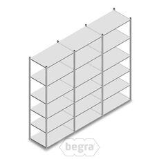 Angebot Reihe Fachbodenregal, Steckregal Metall Light Duty  2500x3000x600, 6 Ebenen Verzinkt 80 kg