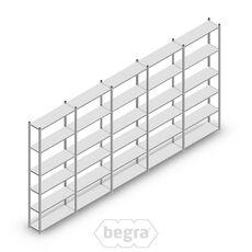 Angebot Reihe Fachbodenregal, Steckregal Metall Light Duty  2500x5000x300, 6 Ebenen Verzinkt 40 kg