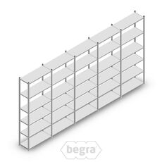 Angebot Reihe Fachbodenregal, Steckregal Metall Light Duty  2500x5000x400, 6 Ebenen Verzinkt 120 kg