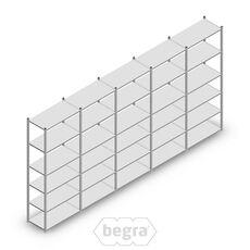 Angebot Reihe Fachbodenregal, Steckregal Metall Light Duty  2500x5000x500, 6 Ebenen Verzinkt 100 kg