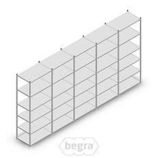 Angebot Reihe Fachbodenregal, Steckregal Metall Light Duty  2500x5000x600, 6 Ebenen Verzinkt 80 kg