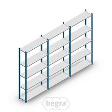 Angebot Reihe Fachbodenregal, Steckregal Metall Medium Duty 2000x3000x300, 5 Ebenen Blau 90 kg
