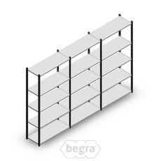 Angebot Reihe Fachbodenregal, Steckregal Metall Medium Duty 2000x3000x400, 5 Ebenen Anthrazit 90 kg