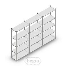 Angebot Reihe Fachbodenregal, Steckregal Metall Medium Duty 2000x3000x400, 5 Ebenen Verzinkt 90 kg