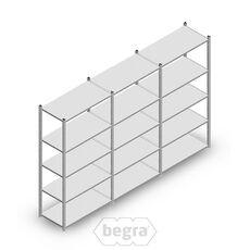 Angebot Reihe Fachbodenregal, Steckregal Metall Medium Duty 2000x3000x500, 5 Ebenen Verzinkt 75 kg