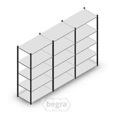 Angebot Reihe Fachbodenregal, Steckregal Metall Medium Duty 2000x3000x600, 5 Ebenen Anthrazit 180 kg