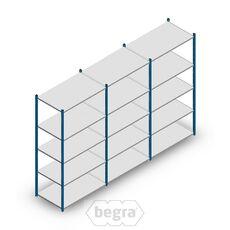 Angebot Reihe Fachbodenregal, Steckregal Metall Medium Duty 2000x3000x600, 5 Ebenen Blau 180 kgb