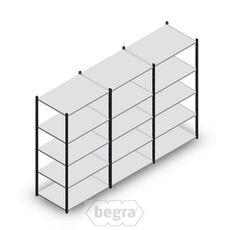 Angebot Reihe Fachbodenregal, Steckregal Metall Medium Duty 2000x3000x700, 5 Ebenen Anthrazit 180 kg