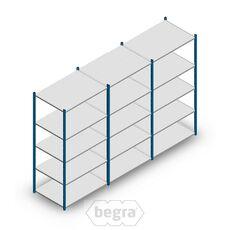 Angebot Reihe Fachbodenregal, Steckregal Metall Medium Duty 2000x3000x700, 5 Ebenen Blau 180 kg