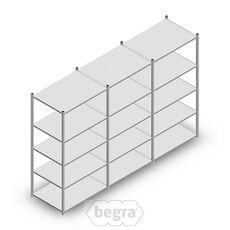 Angebot Reihe Fachbodenregal, Steckregal Metall Medium Duty 2000x3000x700, 5 Ebenen Verzinkt 180 kg