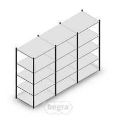 Angebot Reihe Fachbodenregal, Steckregal Metall Medium Duty 2000x3000x800, 5 Ebenen Anthrazit 180 kg