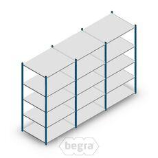 Angebot Reihe Fachbodenregal, Steckregal Metall Medium Duty 2000x3000x800, 5 Ebenen Blau 180 kg