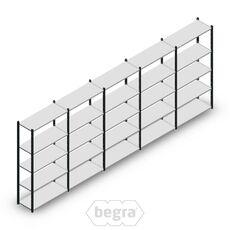 Angebot Reihe Fachbodenregal, Steckregal Metall Medium Duty 2000x5000x400, 5 Ebenen Anthrazit 90 kg