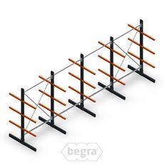 Angebotsreihe Leichte Kragarmregale doppelseitig 2000x5000 Armlänge 500 mm, 3 Ebenen