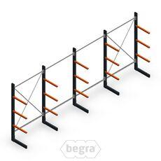 Angebotsreihe Leichte Kragarmregale einseitig 2000x5000 Armlänge 500 mm, 3 Ebenen